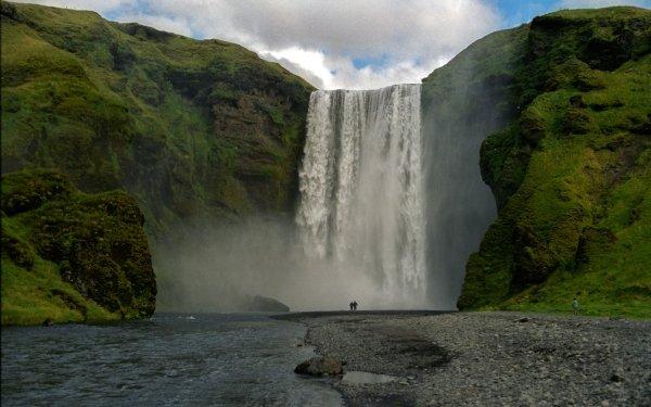 Earth Skógafoss Waterfalls HD Wallpaper | Background Image