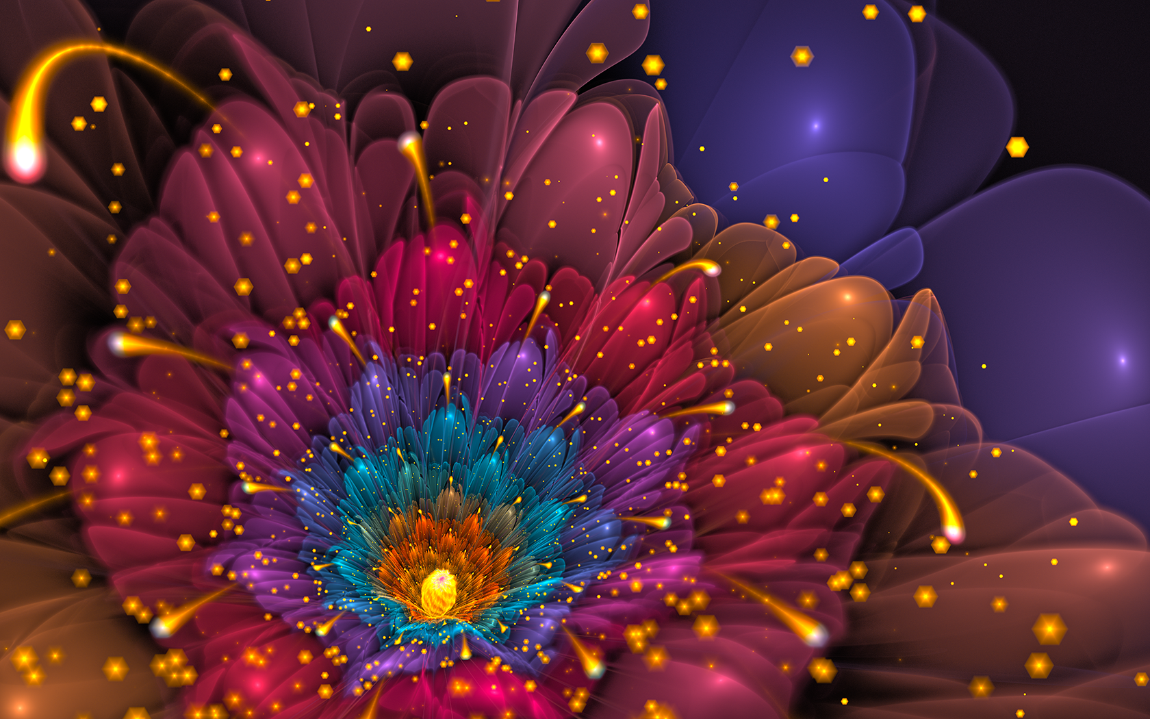 A vision of delight wallpaper and background image 1680x1050 artistic flower artistic colorful glitter wallpaper voltagebd Image collections
