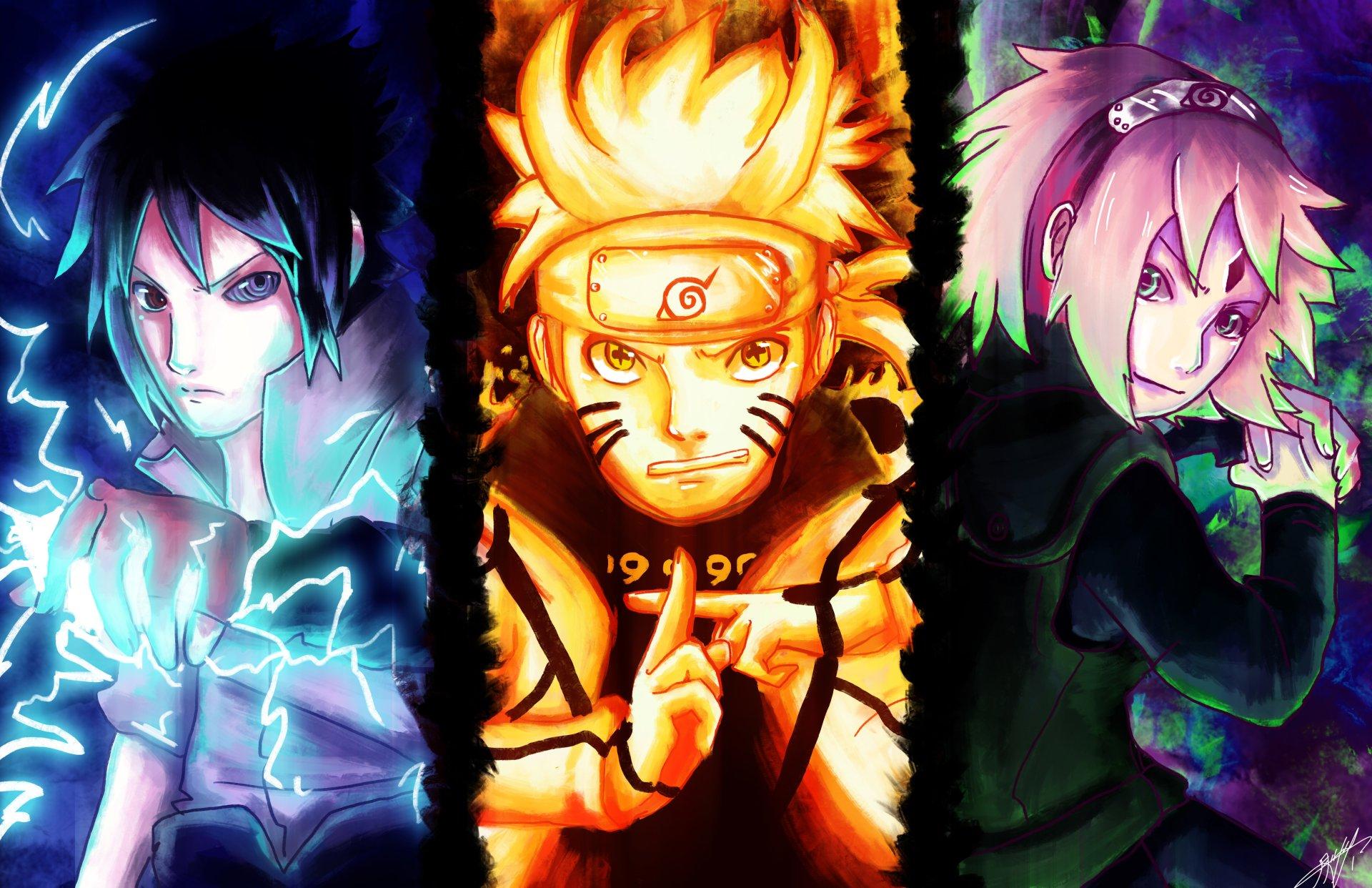 Team 7 Sasuke Naruto And Sakura 4k Ultra Hd Wallpaper