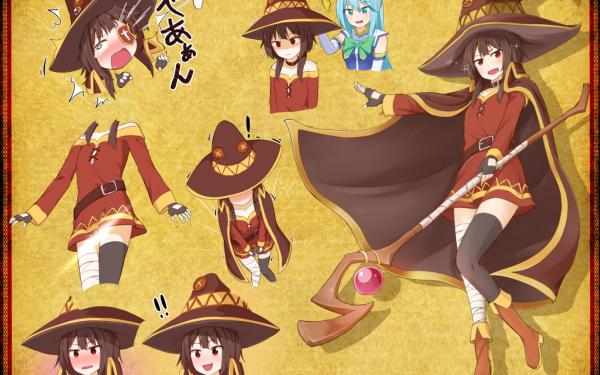 Anime KonoSuba – God's blessing on this wonderful world!! Megumin HD Wallpaper   Background Image