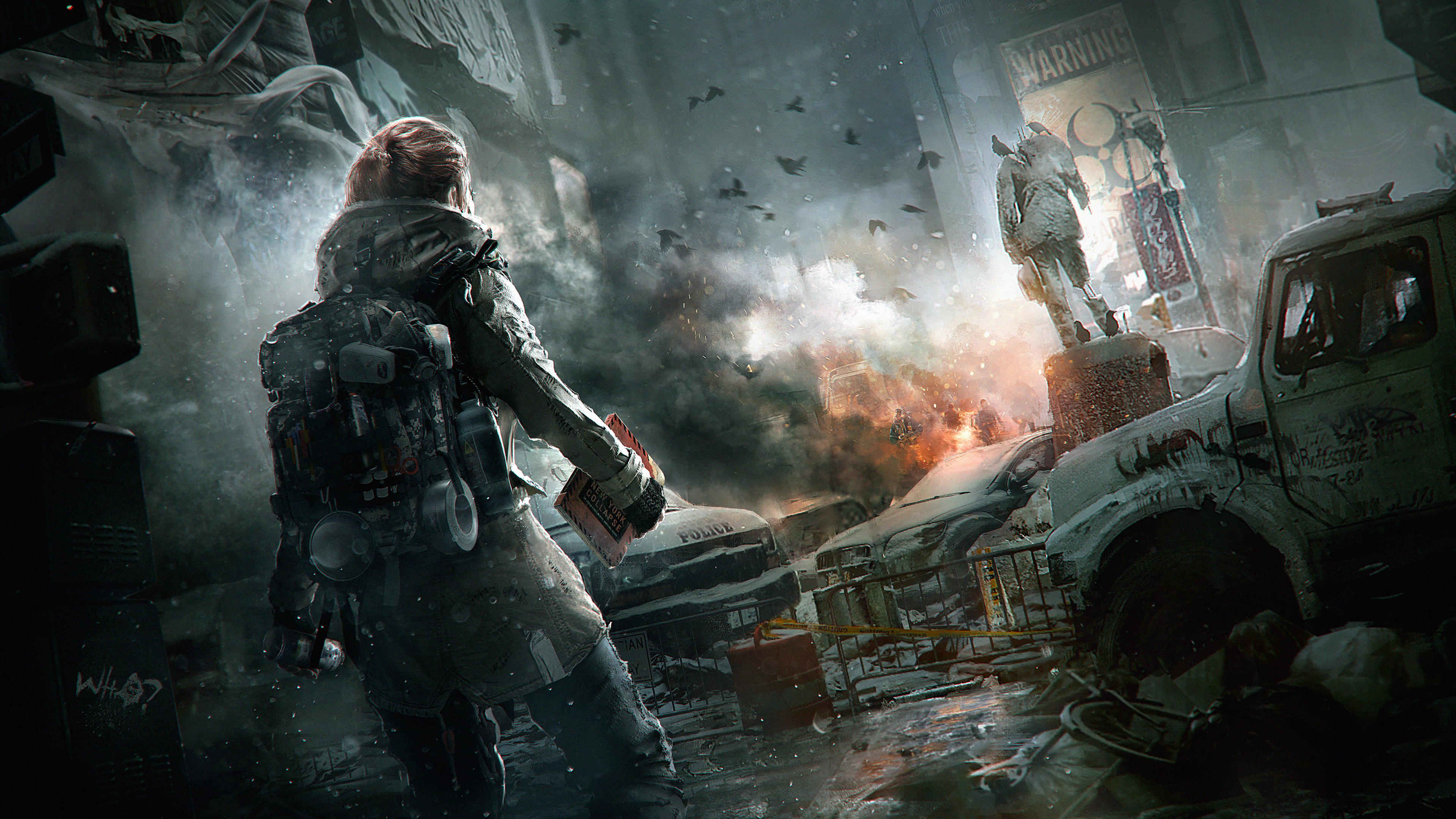 City Soldier Tom Clancys The Division HD Wallpaper