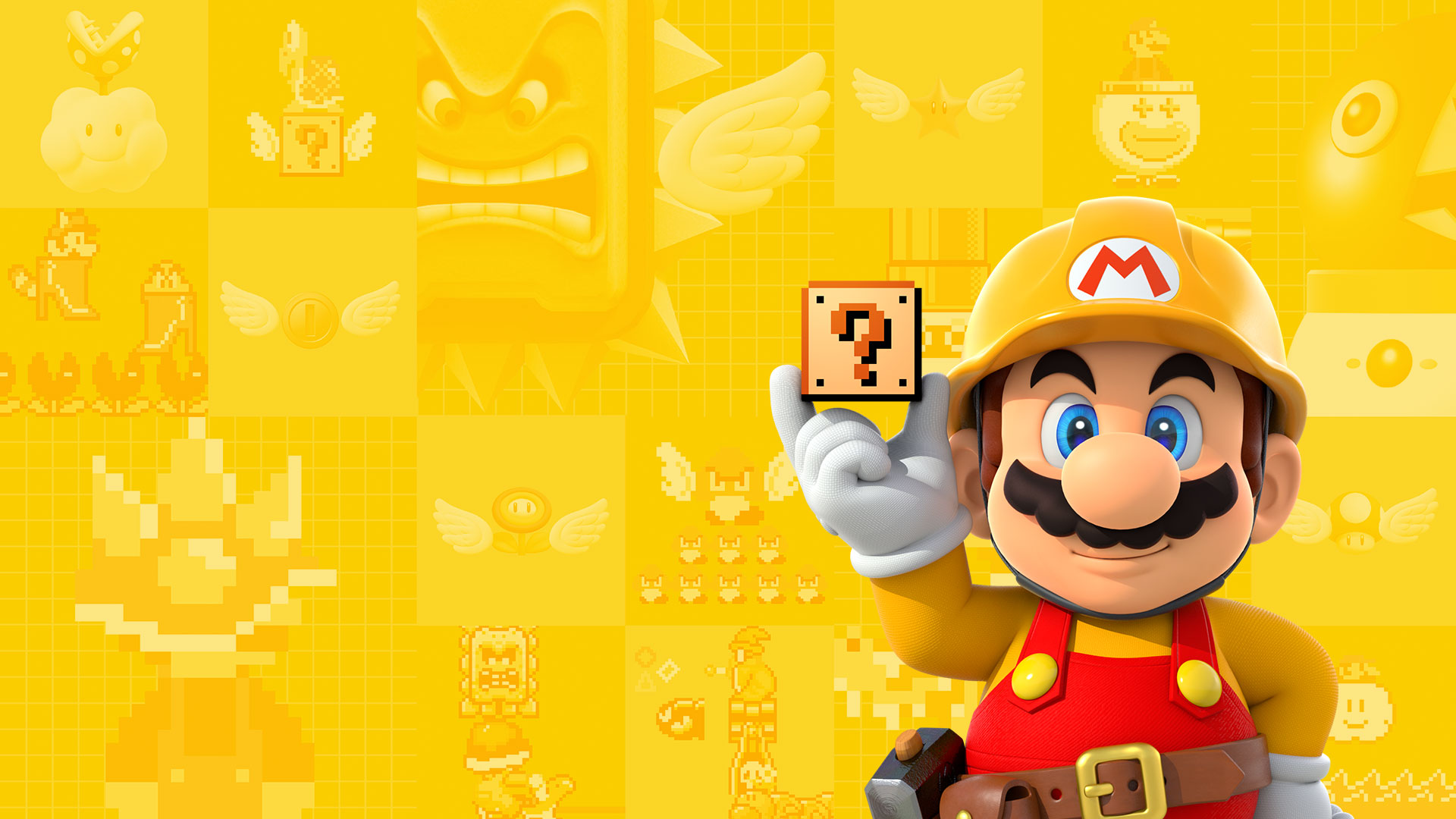 Papel Parede Mario ~ Super Mario Maker Wallpaper Full HD Papel de Parede and Background Image 1920×1080 ID 683906