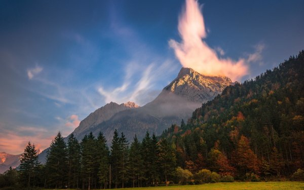 Earth Mountain Mountains Cloud Tree Nature Forest Landscape HD Wallpaper | Background Image