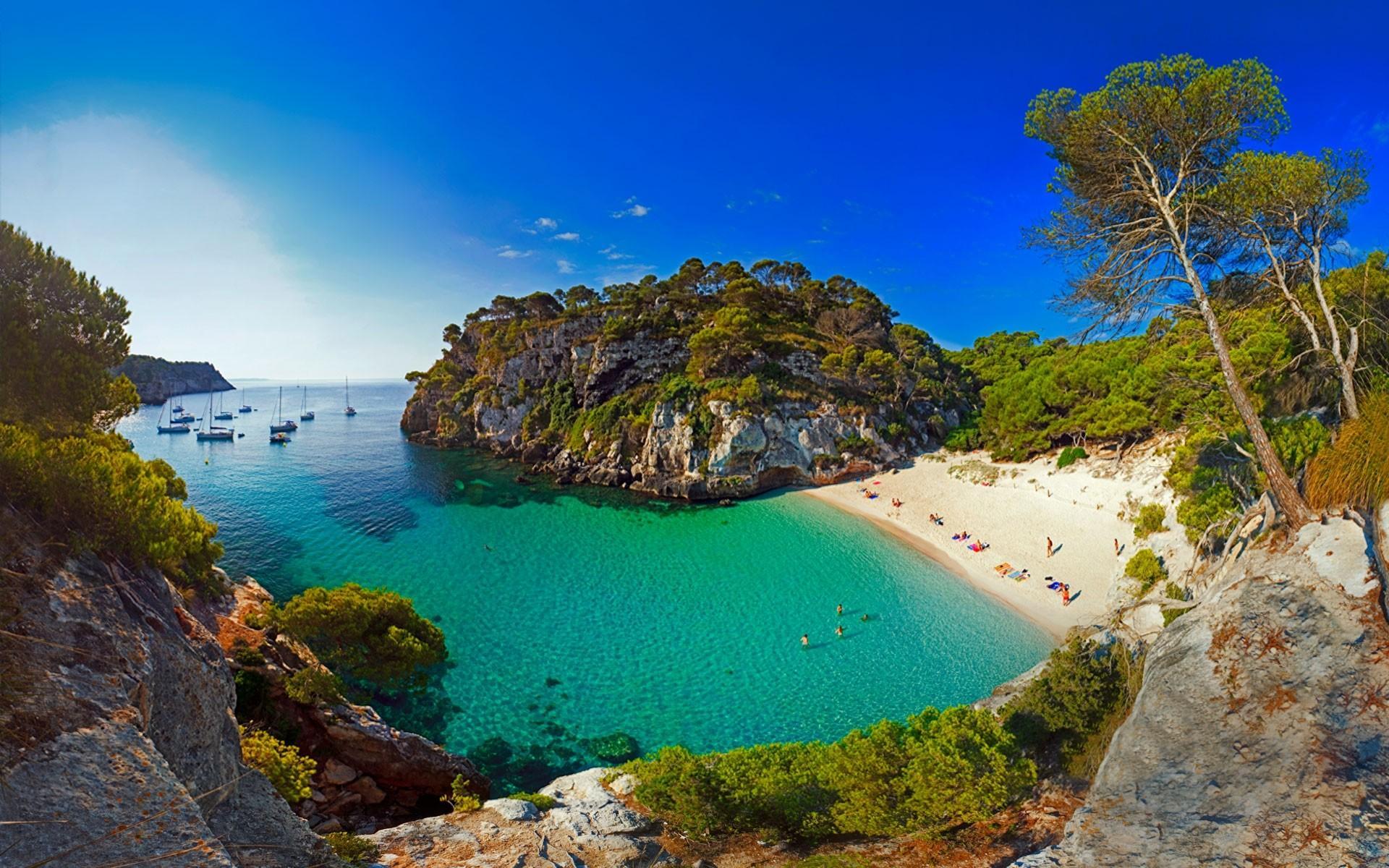Macarellata Beach in Menorca, Spain Wallpapers, Achtergronden ...