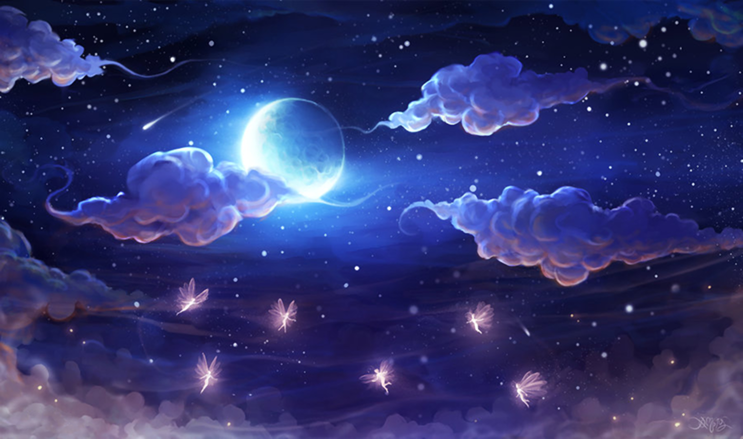 Fantasy Night Sky Wallpaper And Background Image