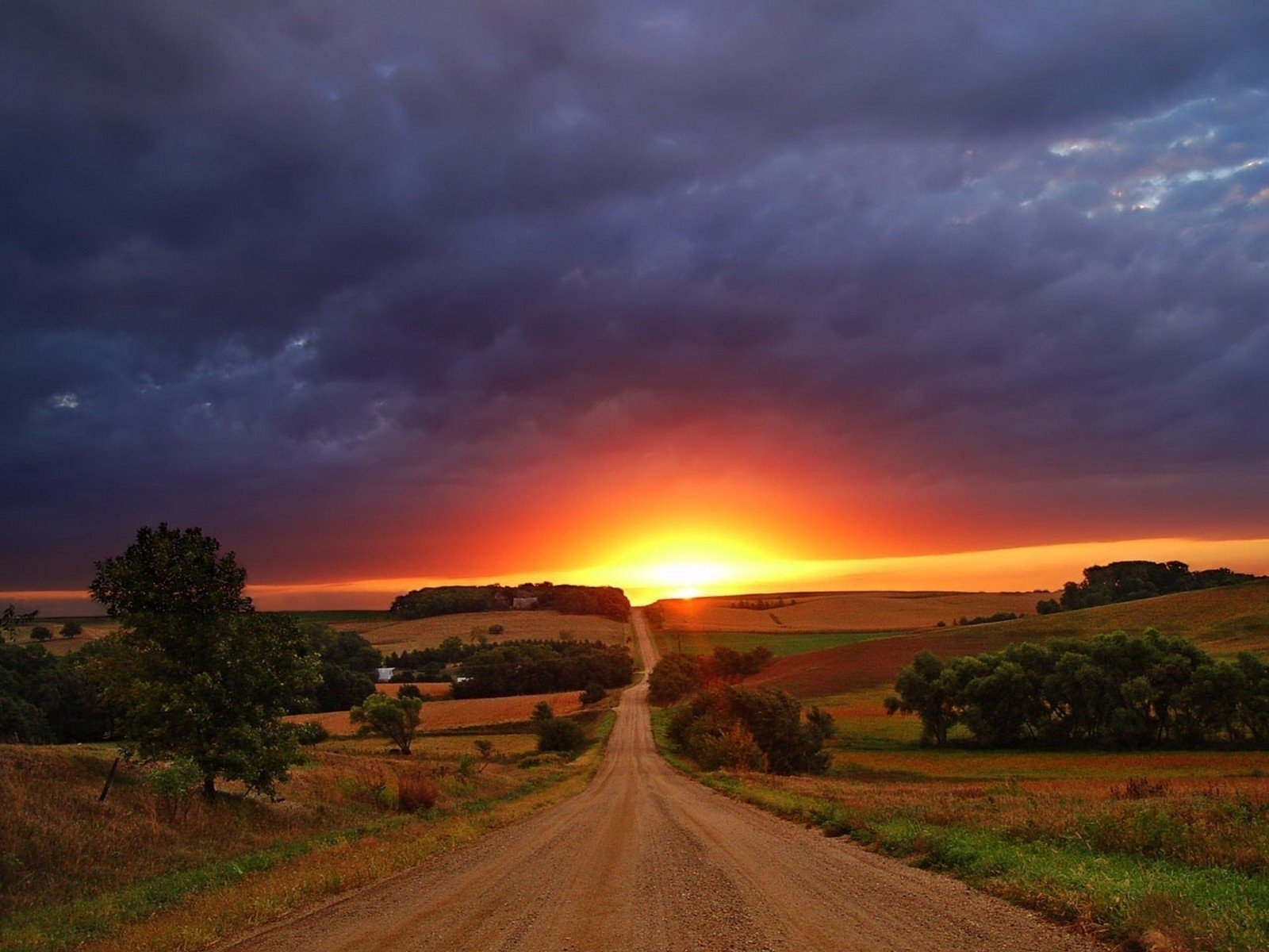 Sunset Road Papel De Parede And Planos De Fundo 1600x1200 Id 686557 Wallpaper Abyss
