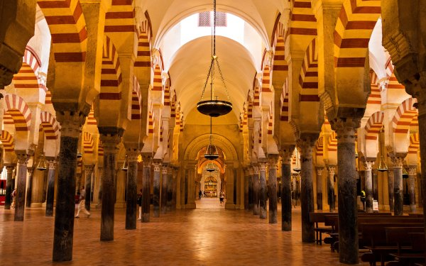 Religious Mosque Mosques Cordoba Spain Columns Arch HD Wallpaper | Background Image