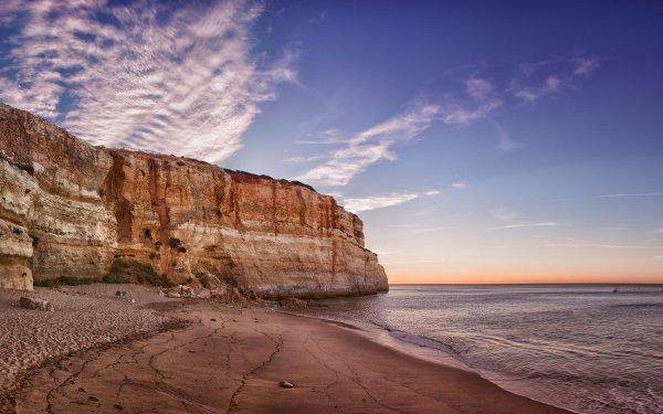 Earth Cliff Portugal Coastline Beach Ocean Horizon HD Wallpaper | Background Image
