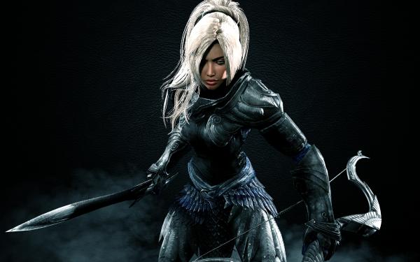 Jeux Vidéo The Elder Scrolls V: Skyrim The Elder Scrolls Artistique Woman Fantaisie Elfe Epée Bow Armor Woman Warrior Skyrim Fond d'écran HD   Image