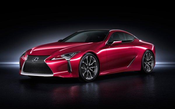 Véhicules Lexus LC 500 Lexus Sport Car Voiture Red Car Fond d'écran HD | Arrière-Plan