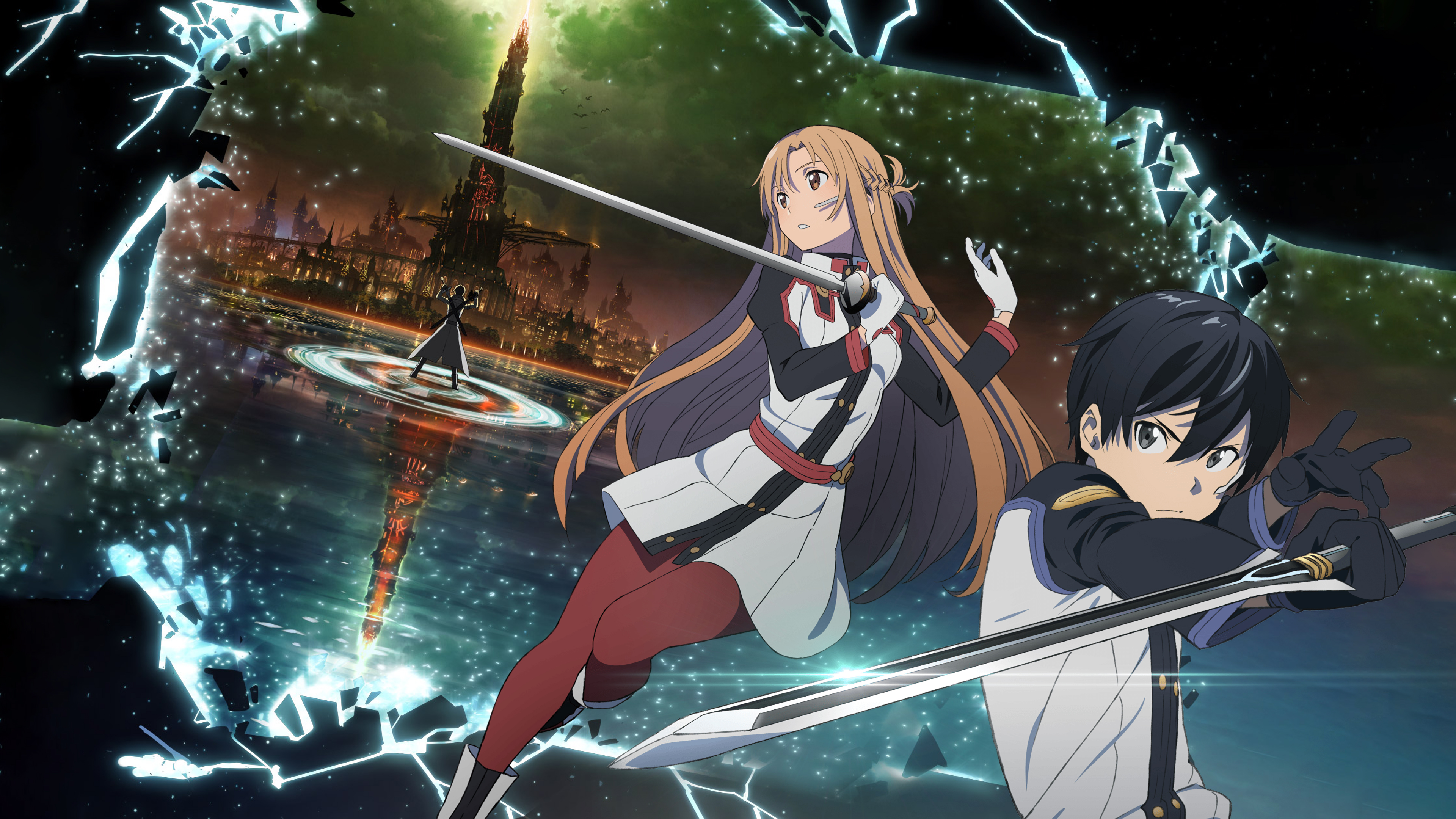 Asuna And Kirito Sword Art Online 4k Ultra Hd Wallpaper