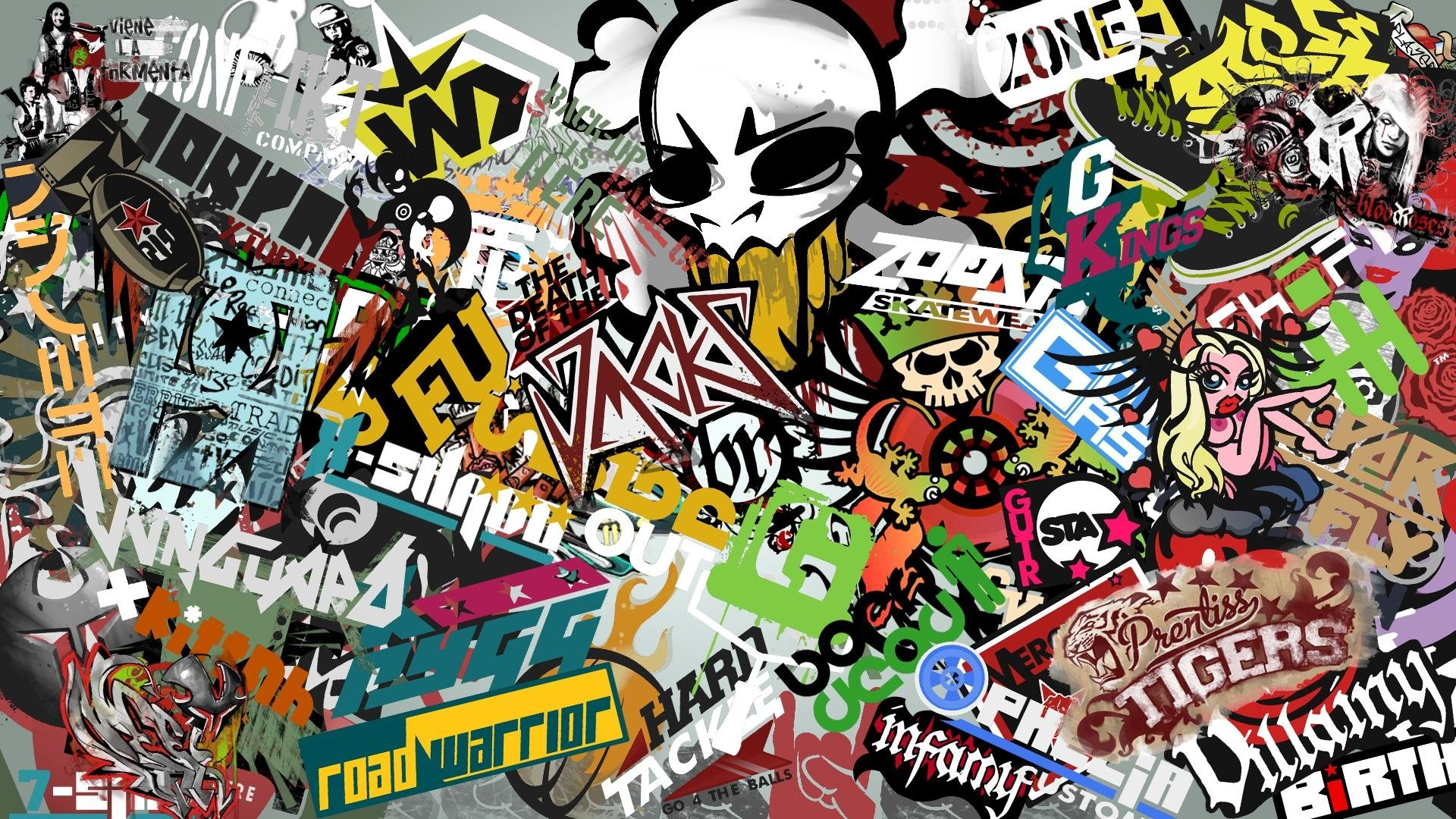 Hypebeast Background 1920X1080 Custom Stickers