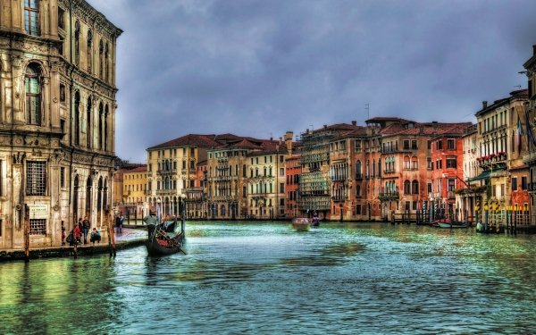 Man Made Venice Cities Italy House Grand Canal Colorful Boat HD Wallpaper | Background Image