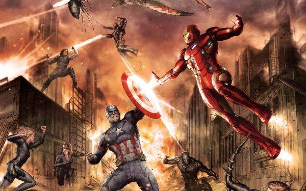 Film Captain America: Civil War Captain America Iron Man War Machine Winter Soldier Sharon Carter Black Panther Œil-de-Faucon Falcon Veuve Noire Fond d'écran HD | Image