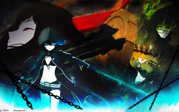 Anime Black Rock Shooter Dead Master Black Gold Saw Chariot HD Wallpaper | Background Image