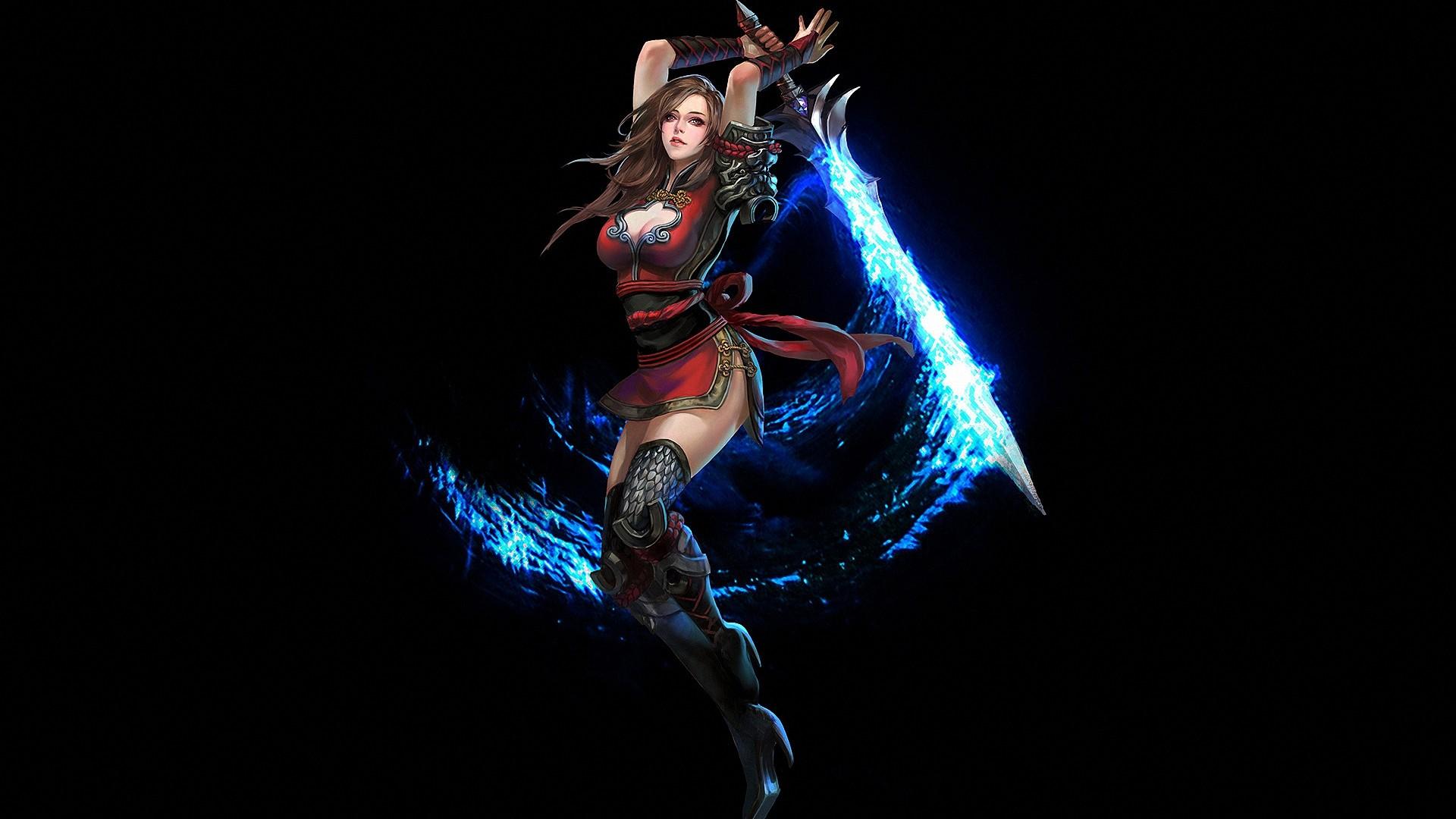 Fantasy warrior hd wallpaper background image - Girl with sword wallpaper ...