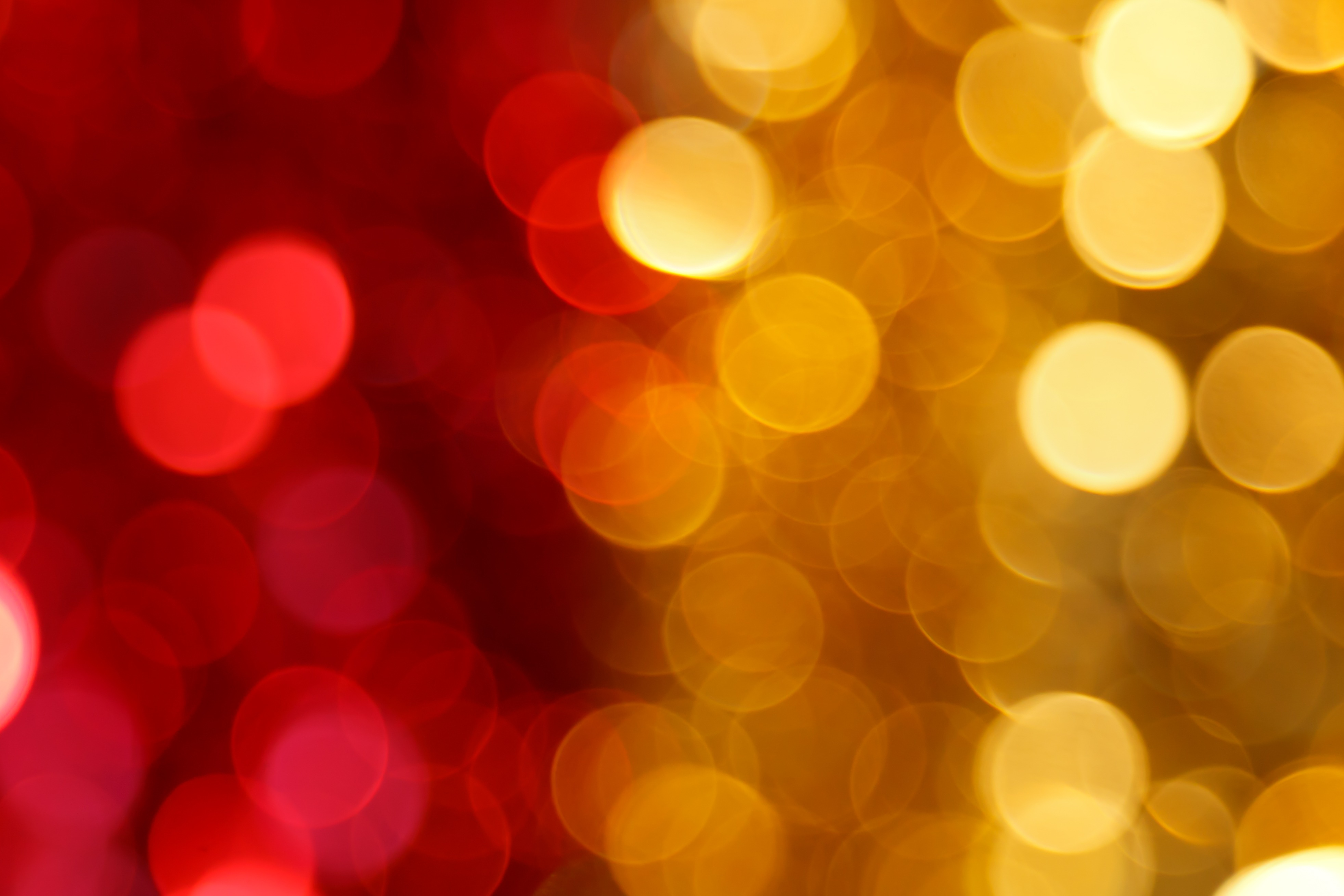 Red And Yellow Bokeh Background