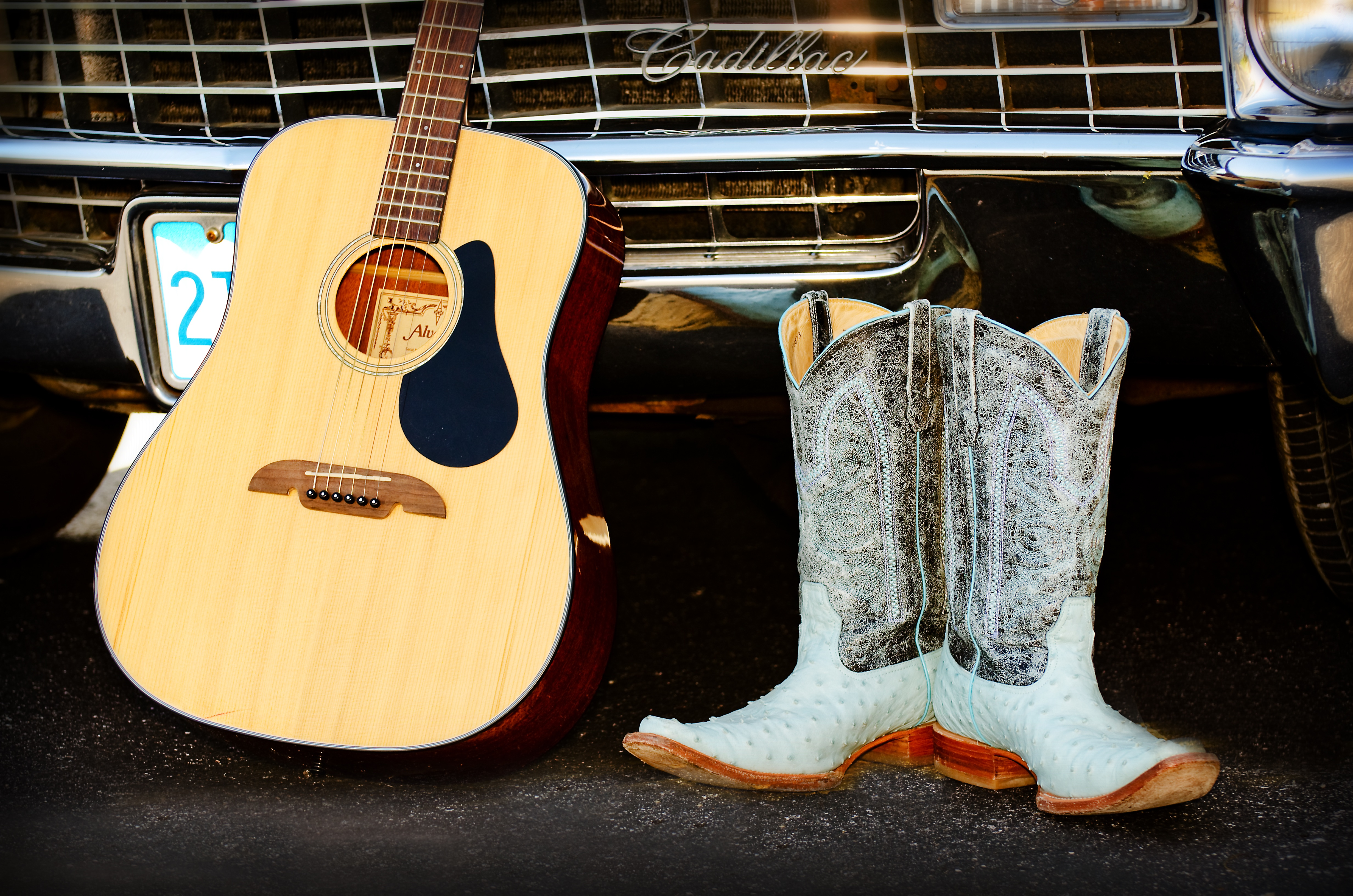 Country Music Cowboy Boots And Guitar 4k Ultra HD Wallpaper