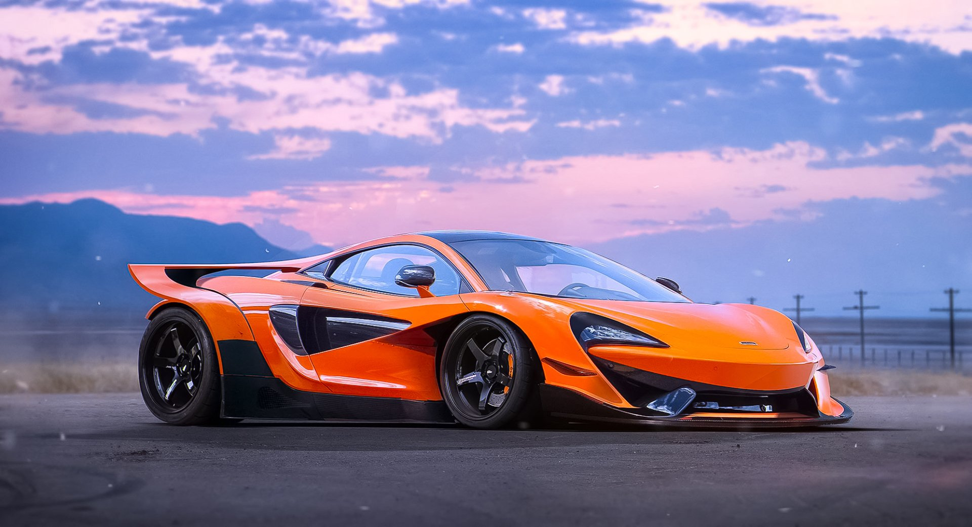 Vehicles - McLaren 570S  Orange Car Supercar Car McLaren Sport Car Wallpaper
