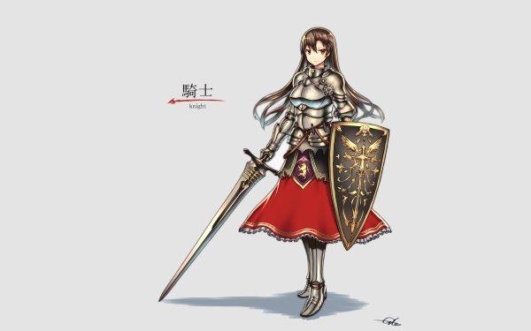 Anime Original Armor Sword HD Wallpaper | Background Image
