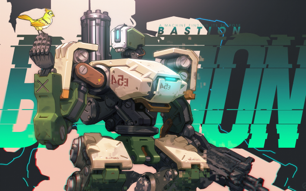 Video Game Overwatch Blizzard Entertainment Bastion HD Wallpaper | Background Image