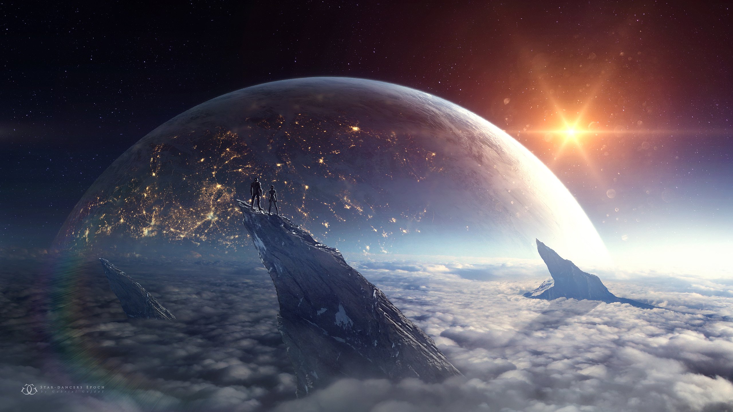World Wallpaper Sci Fi Wallpaper: Planet Rise HD Wallpaper