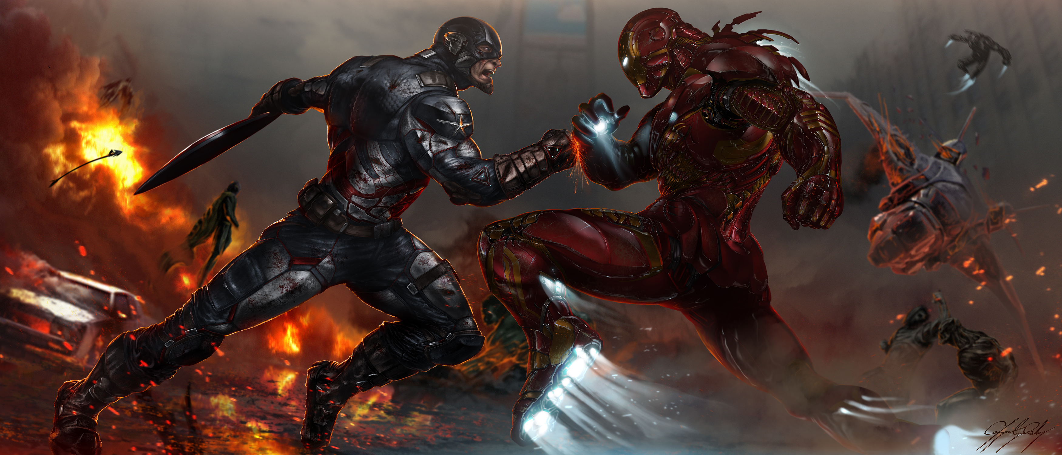 112 Captain America Civil War Hd Wallpapers Background Images