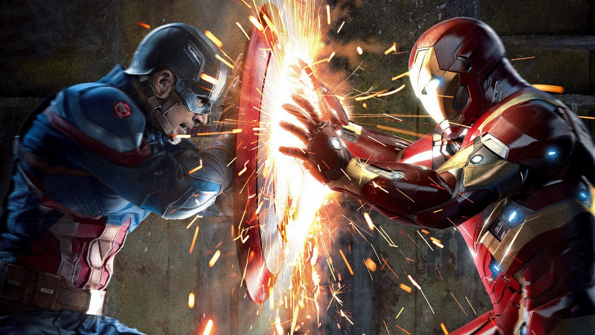 Hd wallpaper of captain america - Captain America Iron Man Hd Wallpaper Background Id 696684