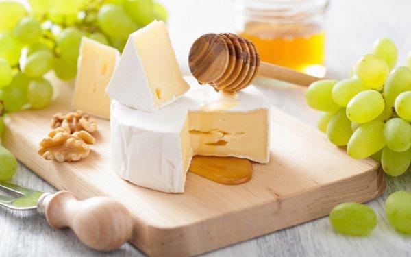 Mat Still Life Cheese Honey Grapes HD Wallpaper | Background Image
