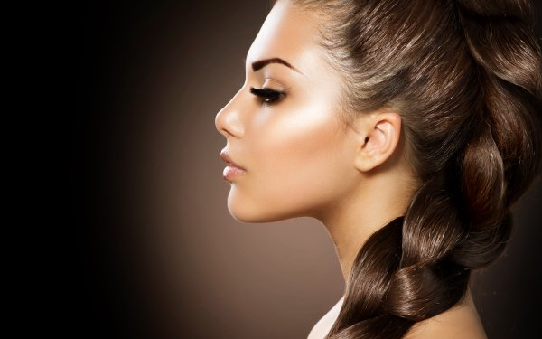 Women Judy Wilkins Models Woman Girl Braid Hair Brunette Face HD Wallpaper | Background Image