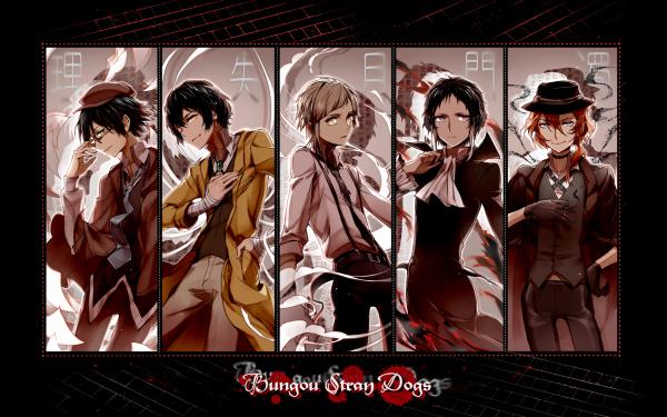 Anime Bungou Stray Dogs Osamu Dazai Ranpo Edogawa Atsushi Nakajima Chuya Nakahara HD Wallpaper | Background Image