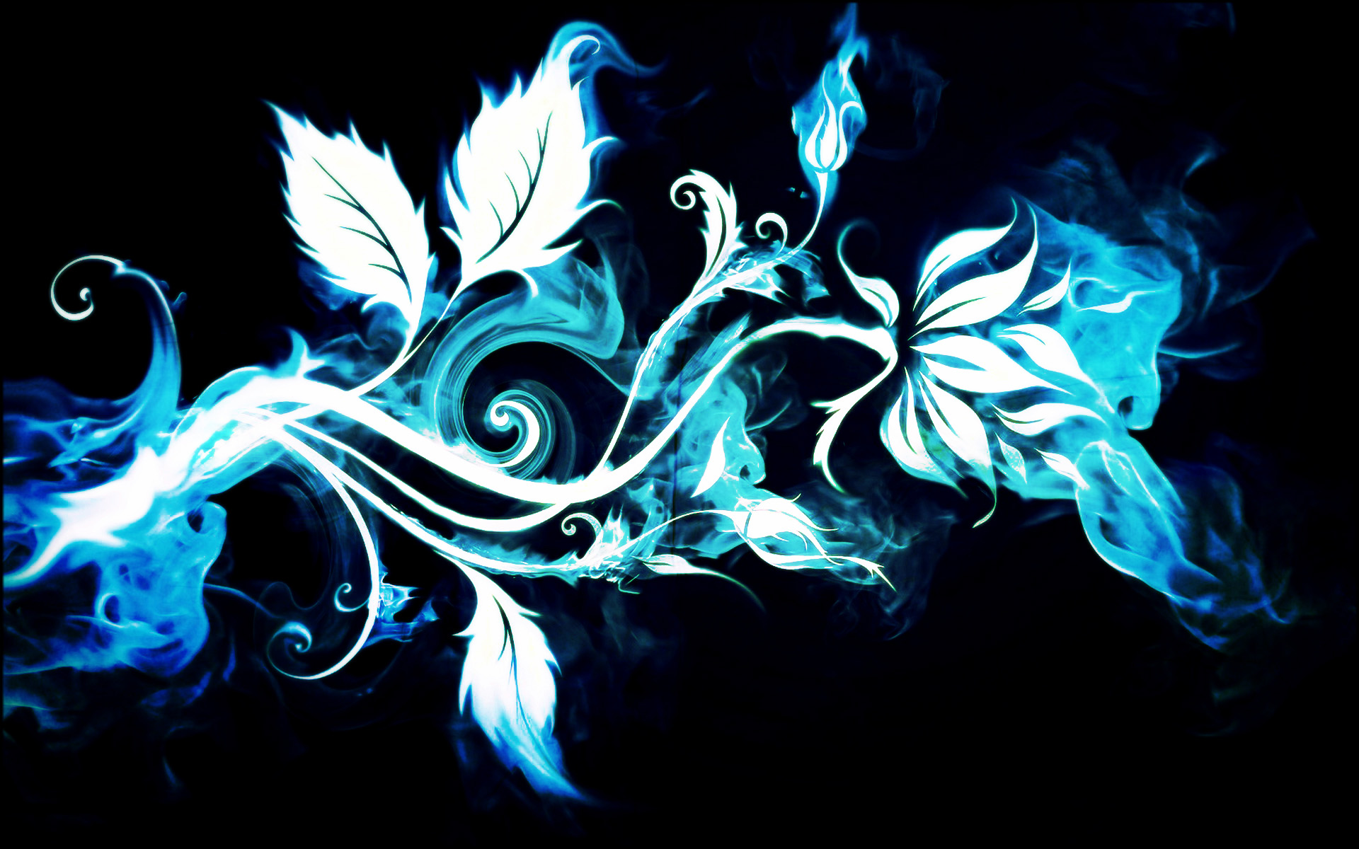 blue smoke flower full hd wallpaper and background