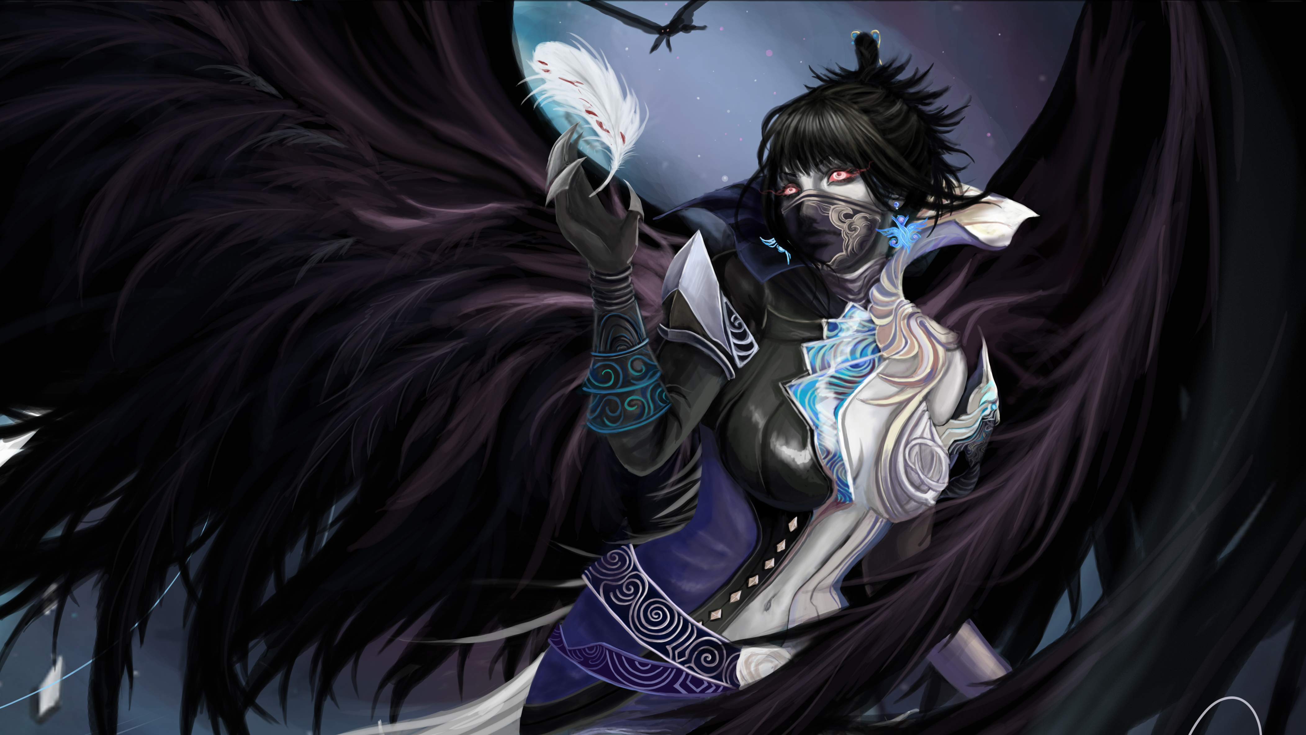 Gothic fantasy angel 4k ultra hd wallpaper background - Gothic angel wallpaper ...