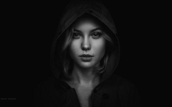 Women Dark Monochrome Portrait HD Wallpaper | Background Image