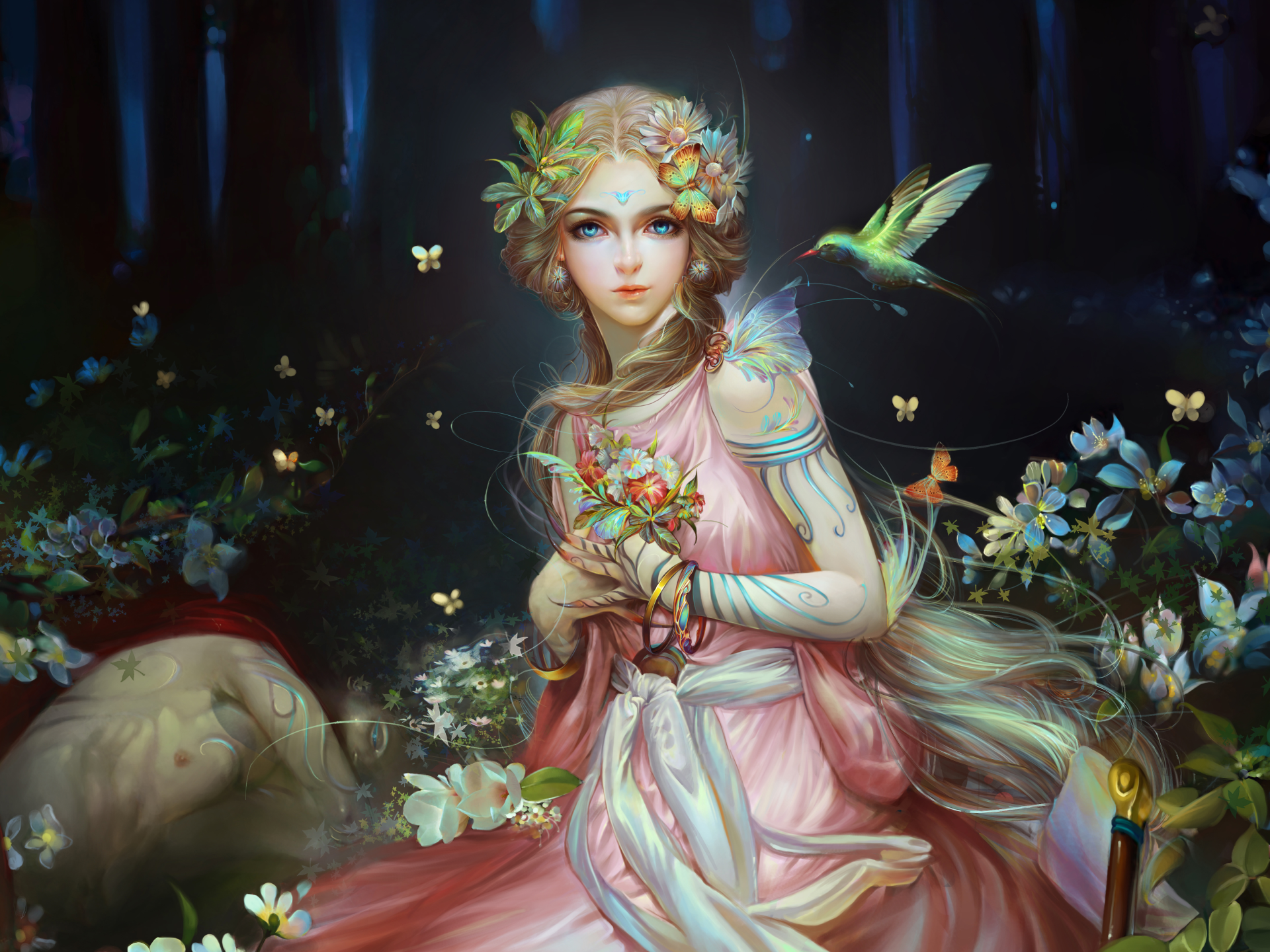 Forest Fairy 4k Ultra HD Wallpaper | Background Image ...