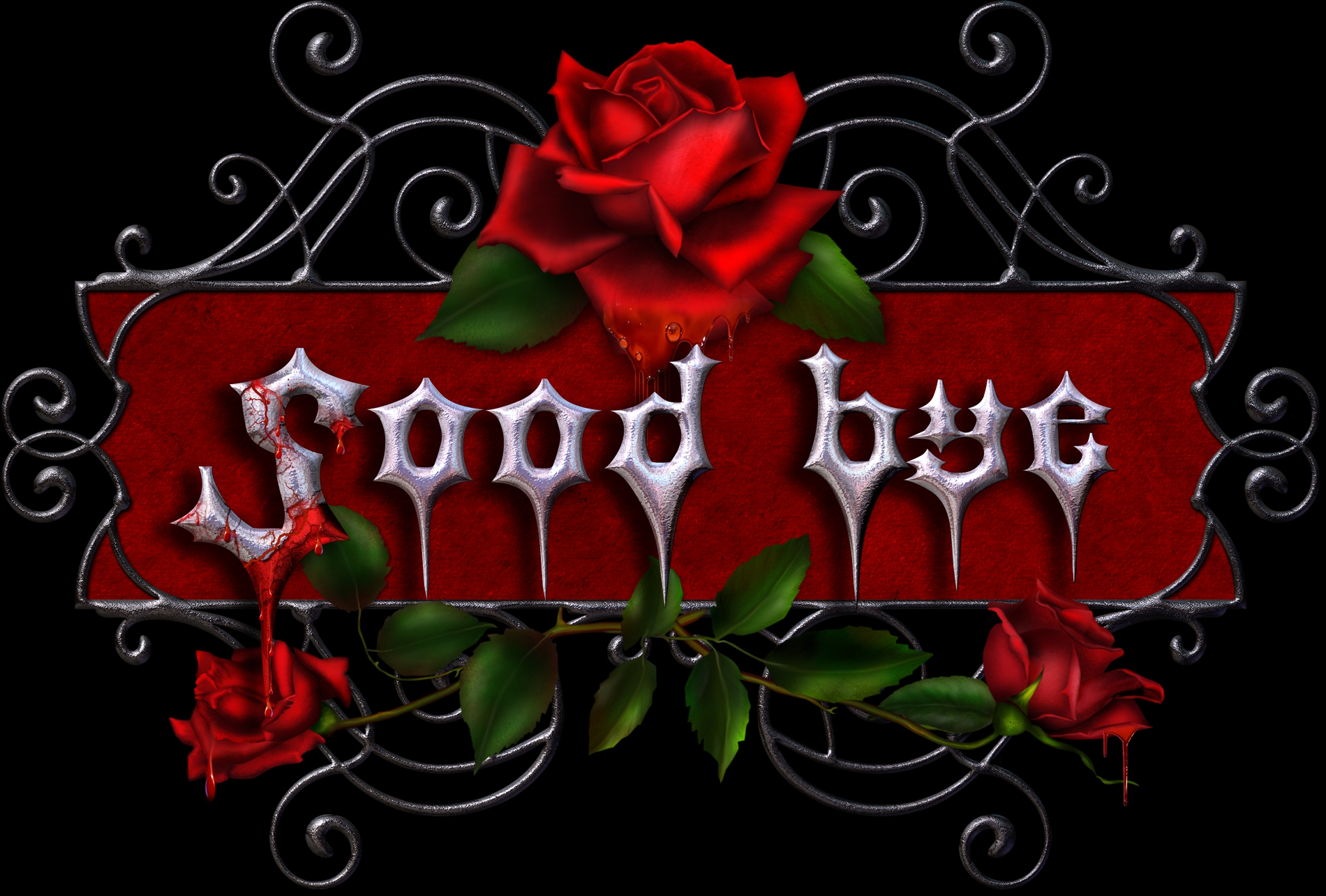 gothic goodbye wallpaper and background image 1900x1285