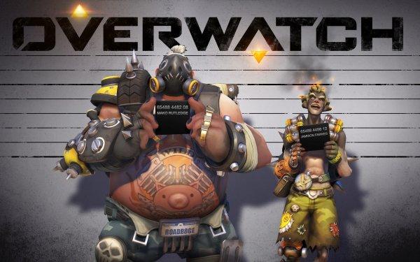 Videojuego Overwatch Roadhog Junkrat Fondo de pantalla HD | Fondo de Escritorio