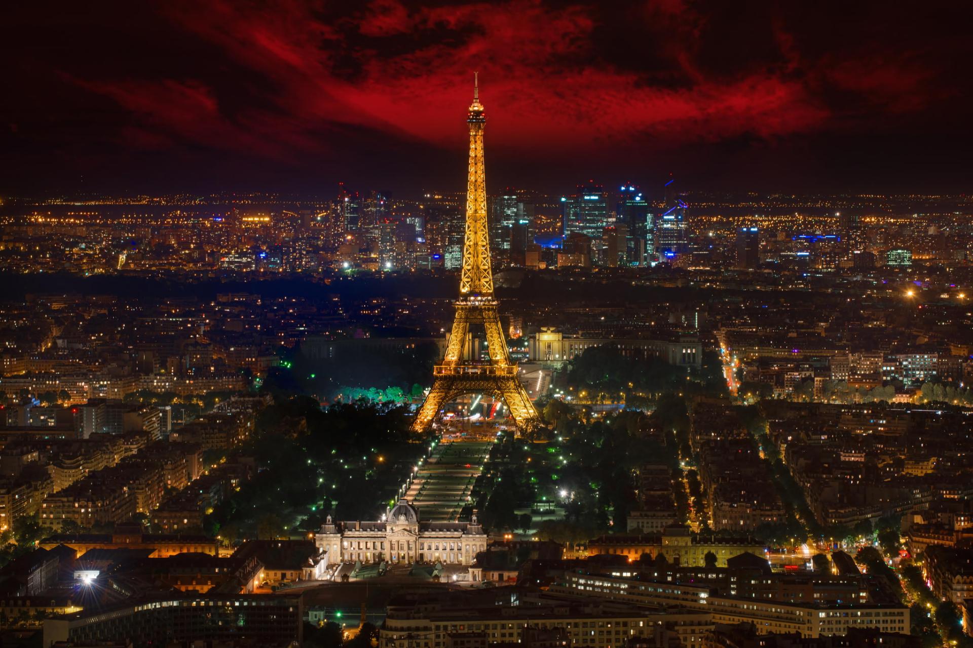 City Of Paris At Night HD Wallpaper