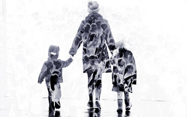 Photography Manipulation People Woman Rear Child HD Wallpaper | Background Image