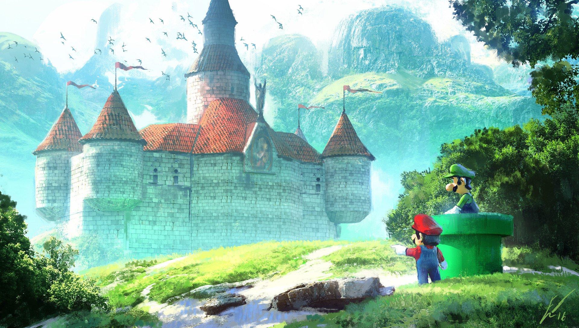 Datorspel - Mario  Luigi Slott Bakgrund