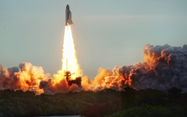 Vehicles Space Shuttle Space Shuttles Lift-Off HD Wallpaper | Background Image