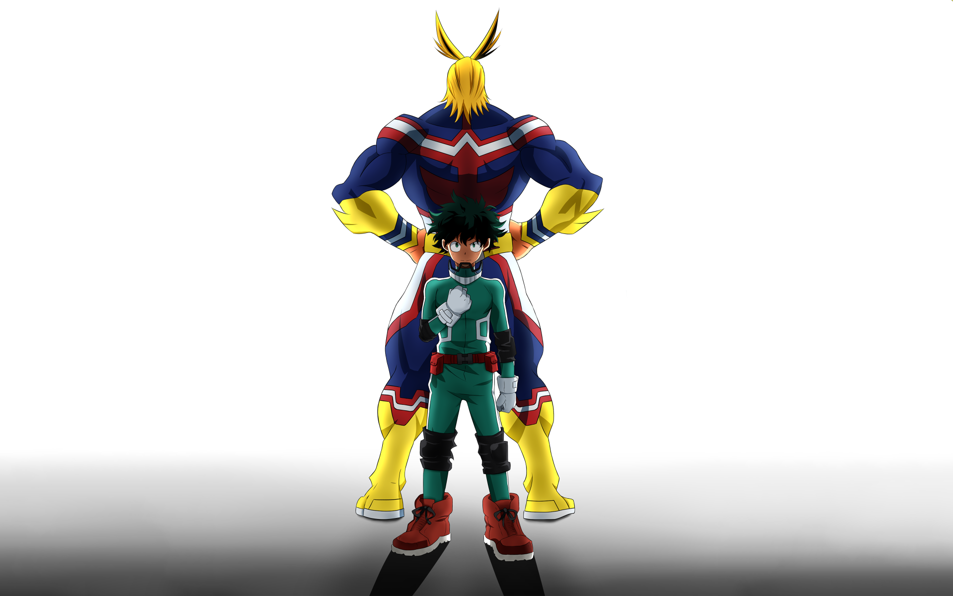 Anime - Boku No Hero Academia  Izuku Midoriya All Might Wallpaper