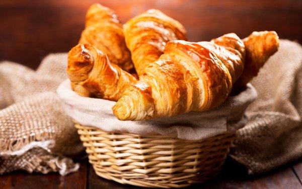 Food Croissant Breakfast HD Wallpaper | Background Image