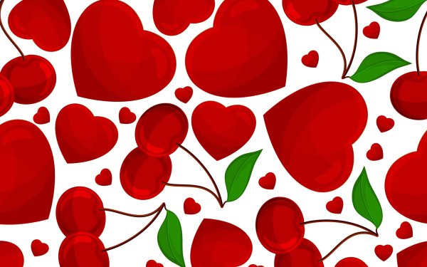 Artistic Love Abstract Heart Red Cherry HD Wallpaper | Background Image