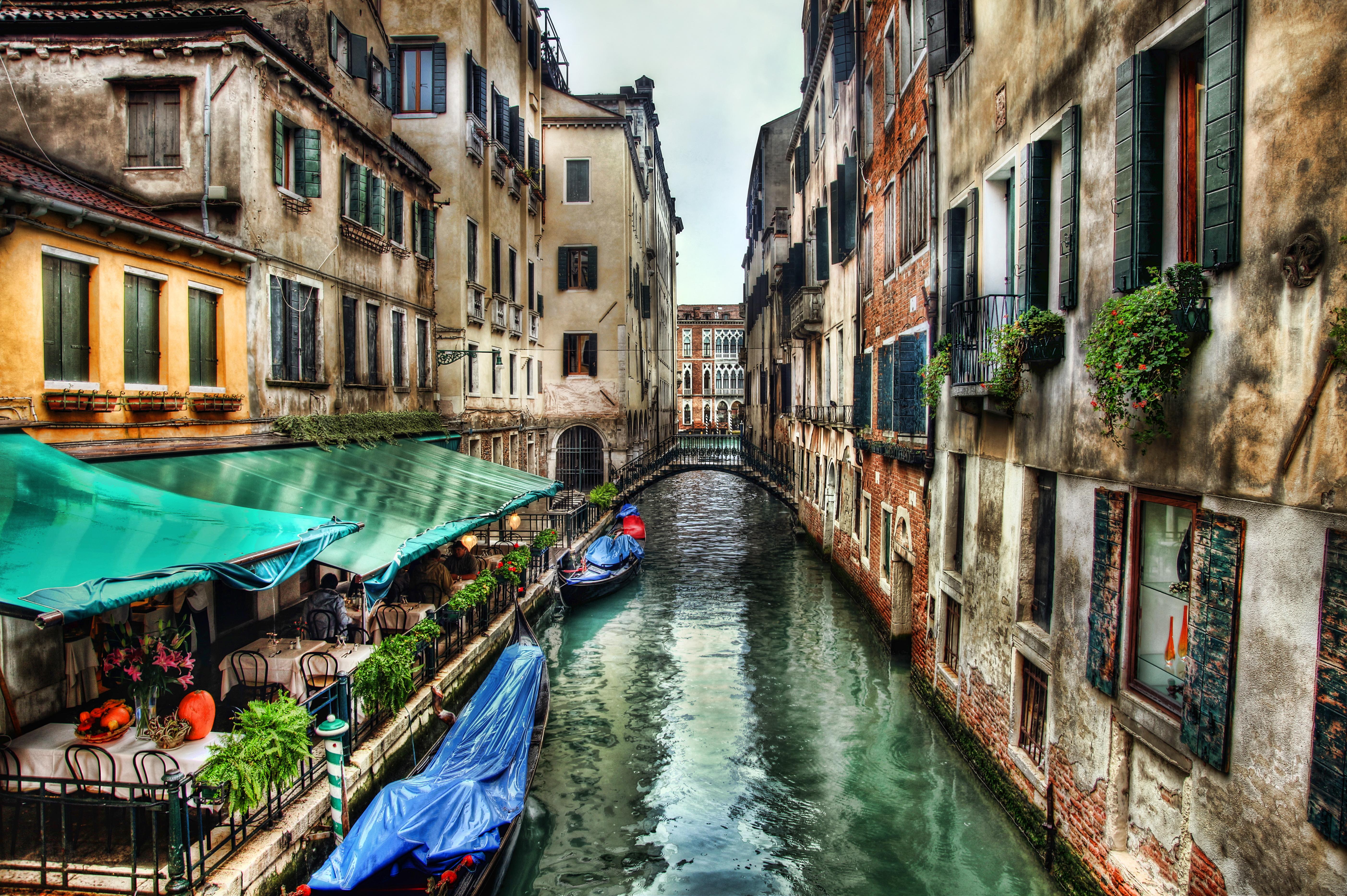Обои Venezia, venice, italy, катер, канал, дома, венеция. Города foto 14