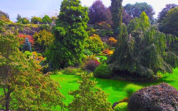Hecho por el hombre Jardín Canadá Queen Elizabeth Gardens Árbol Bush Fondo de pantalla HD | Fondo de Escritorio