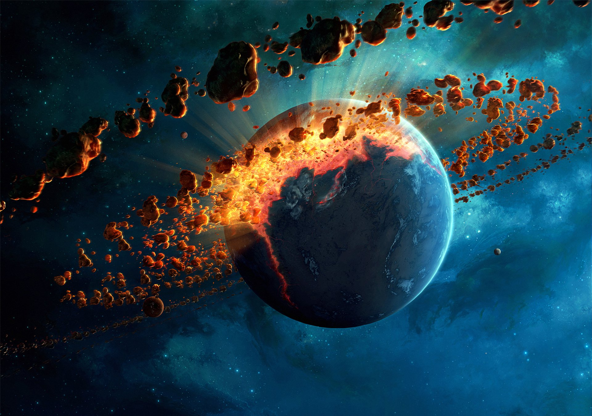 Planet Explosion HD Wallpaper | Background Image ...