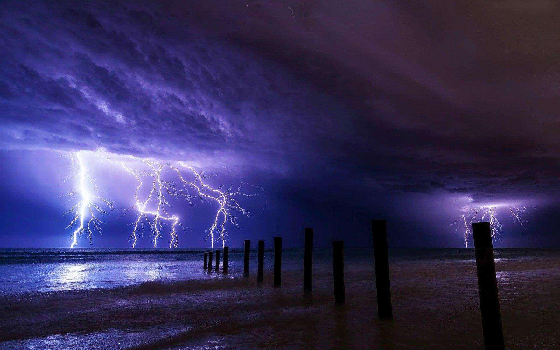 Beach Thunderstorm Wallpaper: Beach Storm HD Wallpaper
