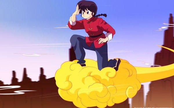 Anime Crossover Ranma Saotome Dragon Ball Ranma ½ Flying Nimbus HD Wallpaper | Background Image