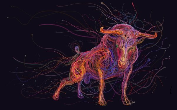 Animal Artistic Bull HD Wallpaper | Background Image